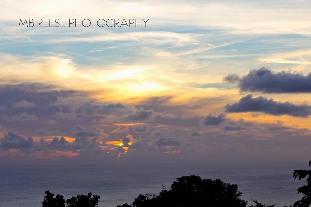 Sunset atop Bananas, Nevis